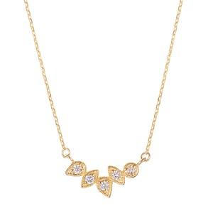 K10YGダイヤモンドネックレス 020209002256