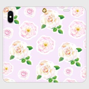 【iPhone X/XS 手帳型】バラ のスマホケース_02