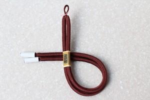 奈良組 男性用羽織紐 小豆色