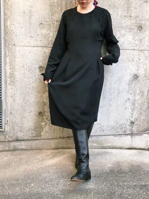Vintage black simple dress ( ヴィンテージ ブラック シンプル ワンピース )