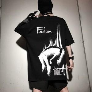 【トップス】暗黒ストリート系半袖コンフォートTシャツ28255582