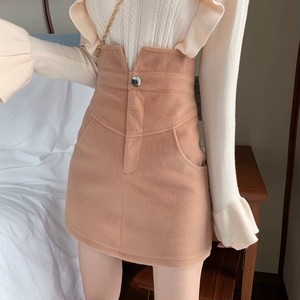 high waist color skirt