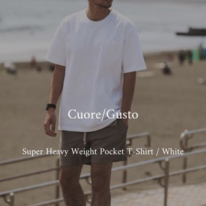 Cuore/Gusto Original Super Heavy Weight Pocket T-Shirt / White