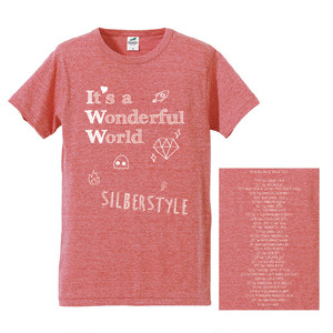 It's a Wonderful World TOUR Tシャツ【Vintage Heather Red】