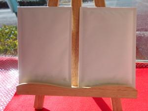 画仙紙、緑茶お茶はがき3枚入り絵手紙用
