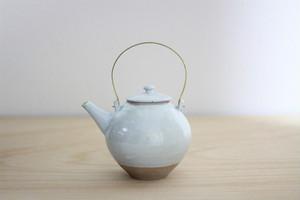 江戸元禄期 大堀相馬焼 隠元型土瓶(白)