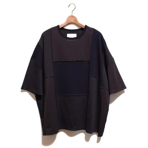 PatchWork Wide Shilouette Tee -navy <LSD-AI1T2>