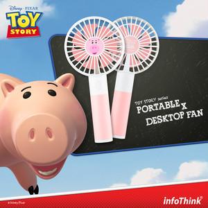InfoThink ポータブル扇風機 Disney トイ・ストーリー4 USB充電 持ち運び 卓上扇風機 ハム iFan(Hamm)