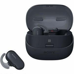 ソニー SONY 完全ワイヤレスイヤホン WF-SP900 : Bluetooth対応 左右分離型 防滴 防塵 4GBメモリ内蔵 2018年モデル ブラック WF-SP900 BM