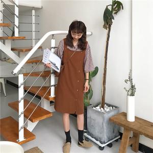 無地 シンプル ジャンパースカート【15034】