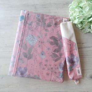 【完成品】イルマ ピンク*リバティ手帳カバー・ぺンケースセット*ナカバヤシサイズ