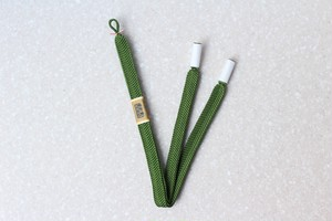 笹浪組 男性用羽織紐 緑