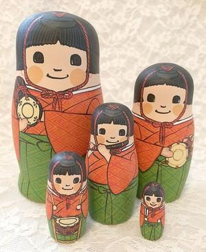 お雛祭りに♪五人囃子のマトリョーシカ