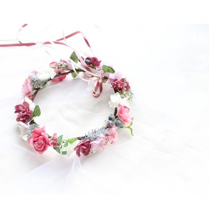 【Rental】No1 Flower crown antique pink