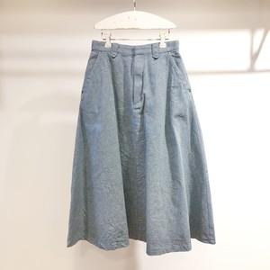 l'atelier du savon / インディゴ千鳥 Aラインスカート