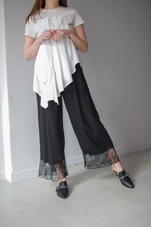 【SALE】REKISAMI / Silk lace Pants