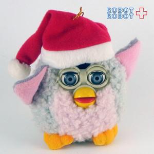 ファービークリスマスオーナメントぬいぐるみ グレーXピンク