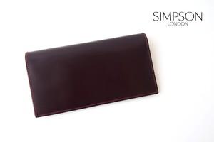 シンプソン ロンドン|SIMPSON LONDON|小銭入れ付き長財布|コードバン|OXブラッドボルドー
