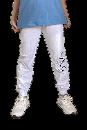 【YKG】ロゴボトムス【ホワイト】【新作】イタリアンウェア《M&W》