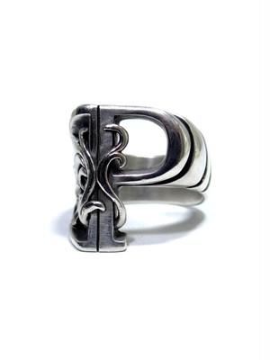 alphabet ring#P (silver925) - アルファベットモチーフ リングP-