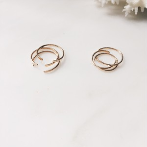 Gold midi ring 3 set