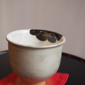 京焼 フリーカップ 梅紋 黒