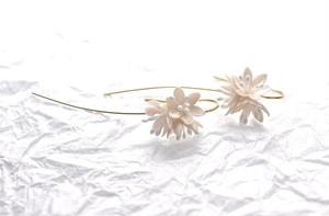 春の森 ショウジョウバカマのピアス/イヤリング(白花) 14kgf