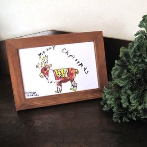 クリスマスカード トナカイ