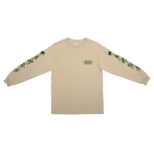 PASS PORT(パスポート) / FLORAL FRIENDS L/S TEE -SAND-