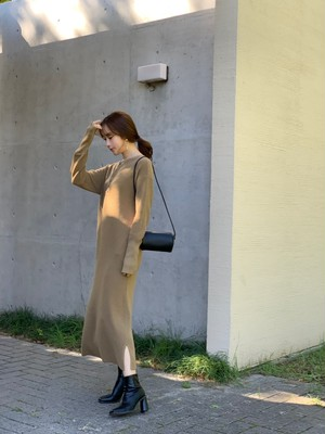 【50%OFF SALE】waffle onepiece / olive (即納)