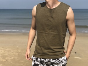【6/19 21:00販売開始】ThreeArrows Cut-off Sleeveless(khaki)