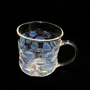 耐熱ガラス 水玉マグカップ light blue