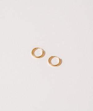 Thin Hoop Pierce(1.0cm)[Silver925]