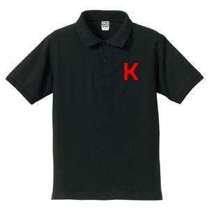 K ポロシャツ(ブラック×レッド)