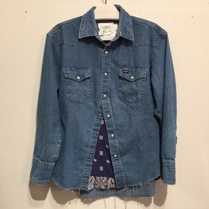 【OLD PARK】DARTS SHIRT DENIM WESTERN OP-158 [No.75002]