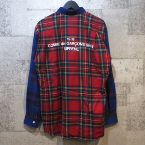 SUPREME × CDG SHIRT 15AW Button-Down Shirt
