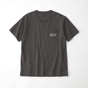 WM LOGO POCKET T-SHIRT - GRAY