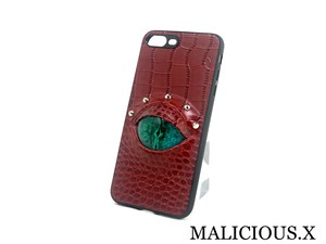 reptiles(A)eye iPhone 6.7.8 Plus case /  green(crocodile/red)
