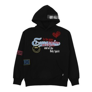 EXAMPLE FULL EMBROIDERED HOODIE / BLACK