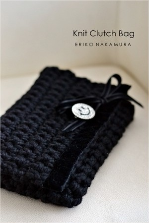 Knit  Cluch bag  winter