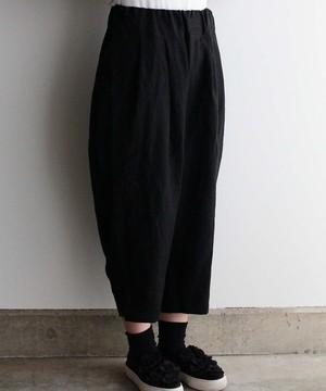 ベルギーリネンのイージーパンツ ブラック