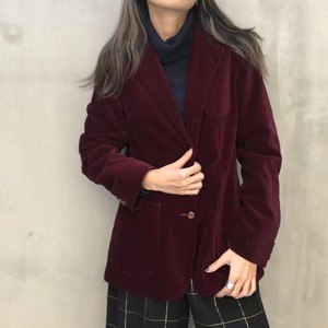 80's red velours jacket