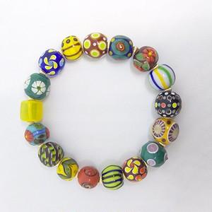 【br002】とんぼ玉ブレスレット Glass beads bracelet