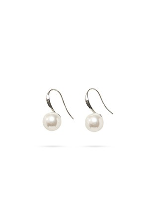 Swarovski Pearl U Hook Earrings | SILVER