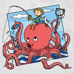 GIANT OCTOPUS Sticker 透明