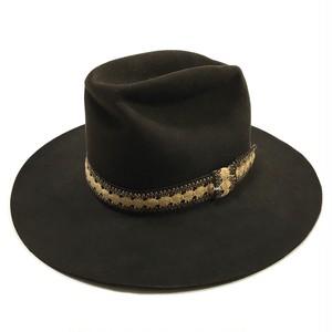 Stetson 4X Vintage Longbrim Beaver Hat Dark Brown 7 3/8