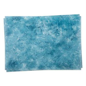 A3背景紙「白と濃い青の油絵の具 #006」