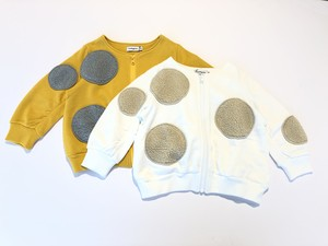 【19AW】フランキーグロウ ( franky grow ) UNEVEN BOA DOTS SWEAT BLOUSON / WHITE・ YELLOW [ S / M / L ]
