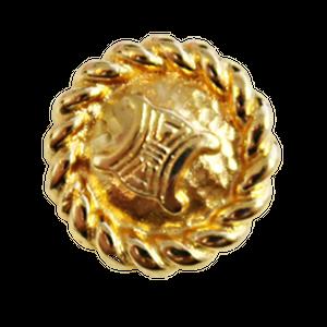 【VINTAGE  CELINE BUTTON】ゴールドフレーム ロゴボタン 25mm L-20011