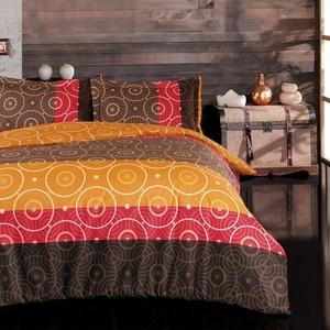 トルコ製 シングル ベッドカバー 3点セット HARE オレンジ